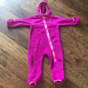 The north face 12-18 month fleece jacket/ bunting